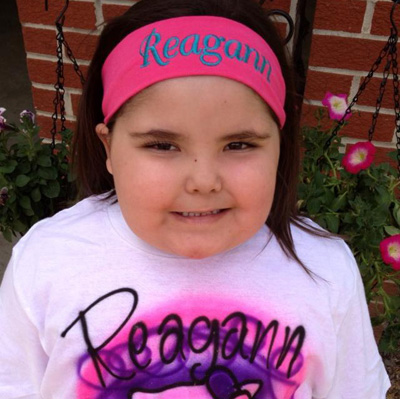 Reagann with headband