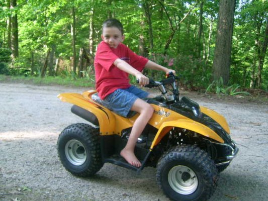 Tyler on 4 wheeler